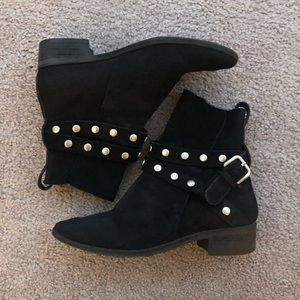 See by Chloe SIZE 36 1/2 Black Suede Ankle Boots